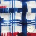 コットンローンオパール調サッカープリント服地 赤・紺・濃紺 【50cm販売】 (4141-07)