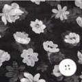 シフォン揚柳ジョーゼットプリント服地 花柄 黒地 《値打ち品》 (4141-70)