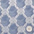 桐生織物カットジャガード服地 青  【お値打ち品】 【50cm販売】  (4141-91)