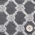 桐生織物カットジャガード服地 黒  【お値打ち品】 【50cm販売】  (4141-92)