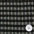 シルク小格子サッカー服地 カーキグレイ×黒・黒 お値打ち品】 【50cm販売】  (4142-02)