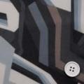シフォンジョーゼットプリント服地 幾何柄 グレイ系 《値打ち品》 (4142-37)