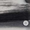 イタリア製ハーフリネンからみプリント 黒 【50cm販売】  (4142-54)