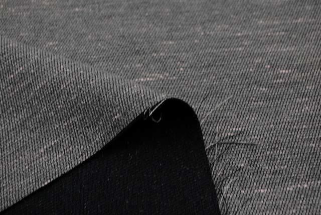 ネップ入りカルゼ調ツイード服地 グレイ 【50cm販売】  (4143-75)