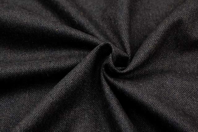 綾織りのフラノ服地 チャコールグレイ 【50cm販売】  (4143-78)