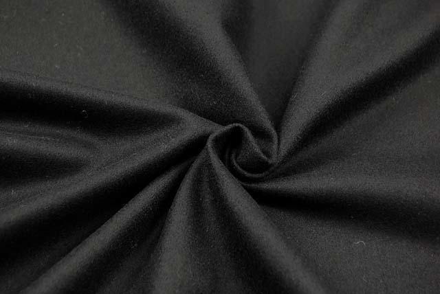 フラノ服地 黒 【50cm販売】  (4143-81)