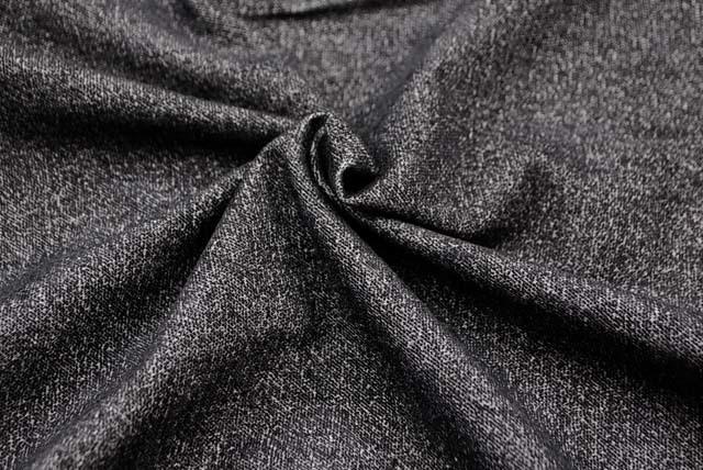 イタリア製ストレッチツイード調プリント服地 【お買い得品】 グレイ 【50cm販売】  (4143-93)