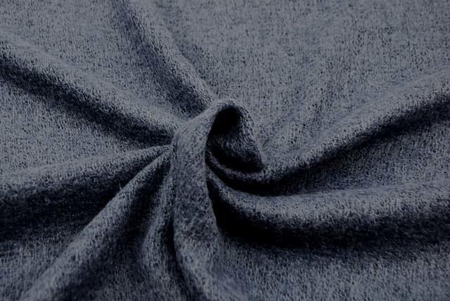 ウール混ガーゼ服地 うす紺 【50cm販売】  (4144-08)