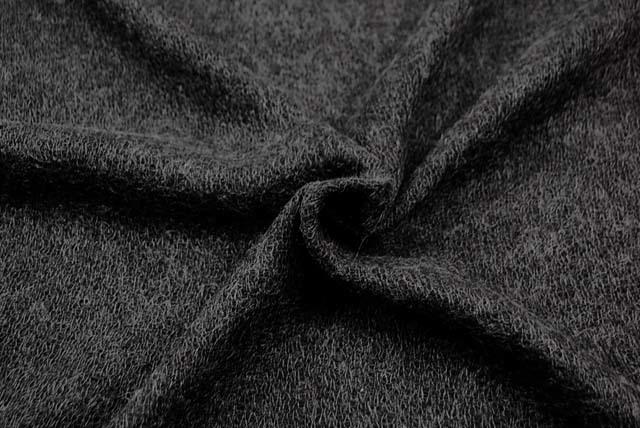 ウール混ガーゼ服地 チャコールグレイ 【50cm販売】  (4144-10)
