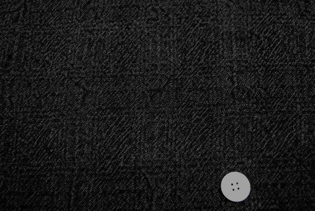 ウールコットンふくれジャガード服地 チャコールグレイ 【50cm販売】  (4144-11)