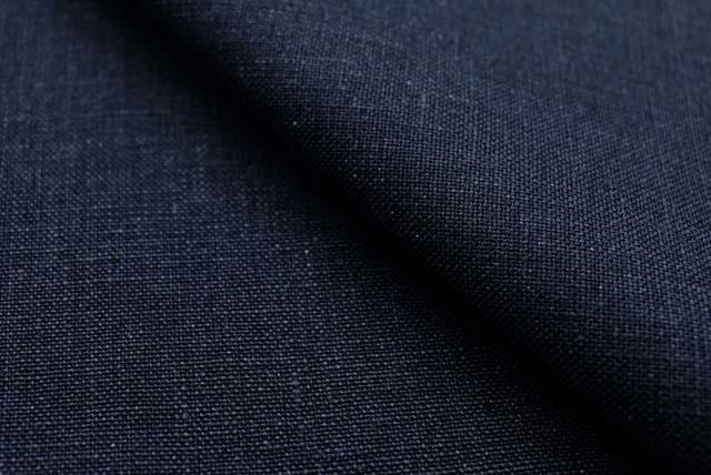 アイリッシュリネン服地 紺 【50cm販売】 《お値打ちです》  (4145-14)