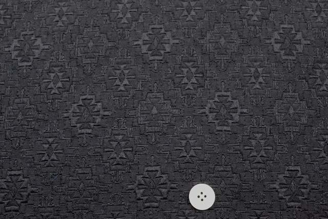 ふくれジャガード服地 黒 【50cm販売】  (4145-27)