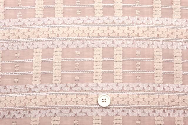 ラメ入りファンシーカットジャガード服地 くすんだピンク 【50cm単位】 (4146-61)