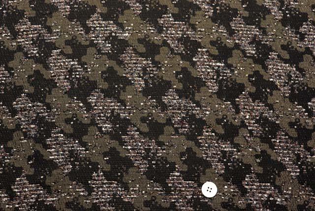 イタリー製ループツイードジャガード服地 茶系 【50cm販売】  (4147-84)