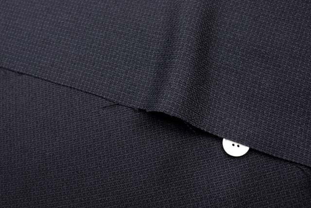ドビージャガードチェック服地 黒 【50cm販売】 (4149-09)