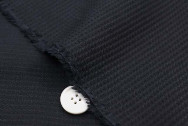 フォーマルブラック ドビーチェック服地 黒 【50cm販売】  (4149-46)