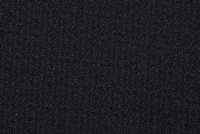 フォーマルブラック 強撚タテ畝ジョーゼット服地 黒 【50cm販売】  (4149-68)
