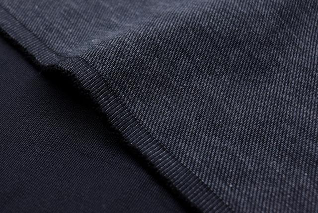 デニム調綾織服地 すみ黒 【50cm販売】  (4149-86)
