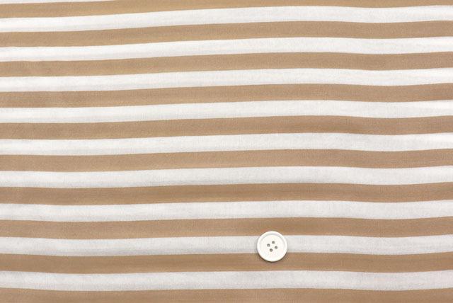 シルクキュプラボーダープリント服地 オフ白地×赤茶 【50cm単位】 (4150-95)