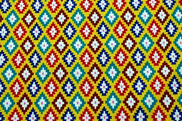 サザンクロス 幾何柄 黄色地