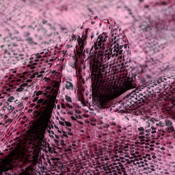1WAYのベロアニット スネーク ピンク