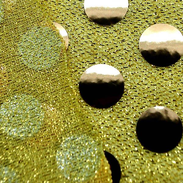 大玉スパンコール 15mm 黄色地×金