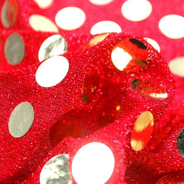 大玉スパンコール 15mm 赤地×金