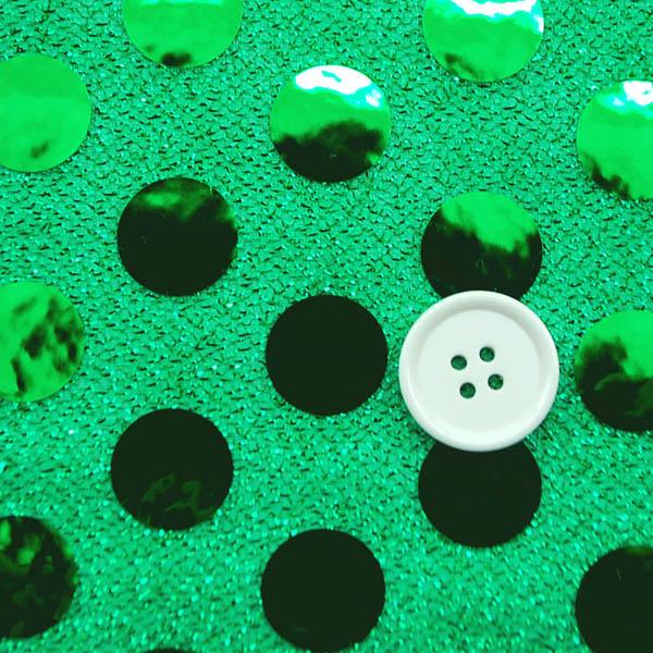 大玉スパンコール 15mm 緑地×緑