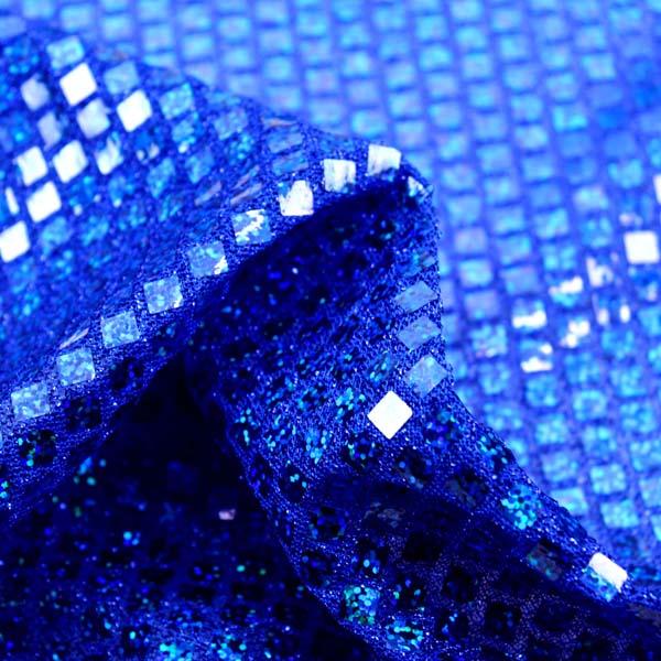ホログラムスパンコール スクエア ロイヤルブルーラメ×ブルーホログラム