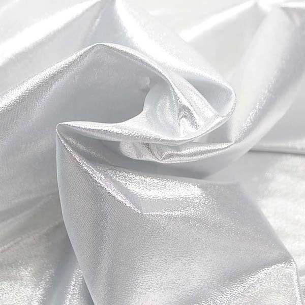 よさこいや衣装やディスプレイに最適な ラメ シャンブレー シルバーホワイト(シルバー糸×白糸)