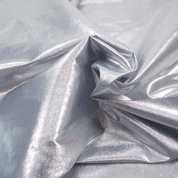 よさこいや衣装やディスプレイに最適な ラメ シャンブレー シルバーグレイ(シルバー糸×ブラック糸)