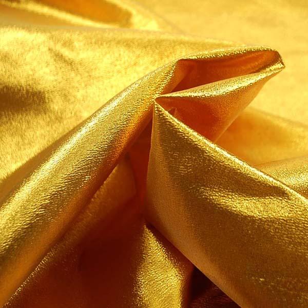 よさこいや衣装やディスプレイに最適な ラメ シャンブレー ゴールドスパーク(ゴールド糸×イエロー糸)