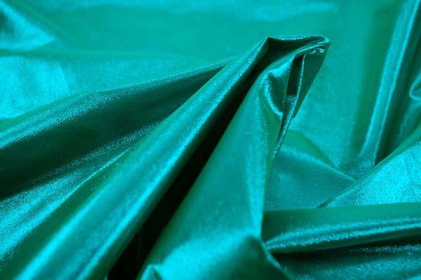 よさこいや衣装やディスプレイに最適な ラメ シャンブレー シーグリーン(グリーン糸×イエロー糸)