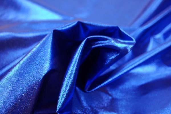 よさこいや衣装やディスプレイに最適な ラメ シャンブレー ブライトンブルー(ブルー糸×ブラック糸)