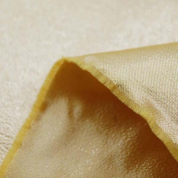 衣装やディスプレイに最適な ハイクオリティなラメ シャンブレー ゴールド(ゴールド糸×ゴールド糸)