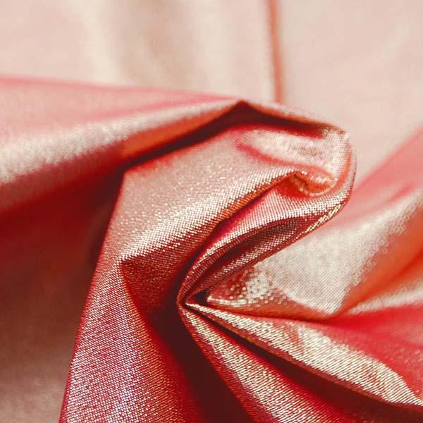 衣装やディスプレイに最適な ハイクオリティなラメ シャンブレー レッド(レッド糸×ゴールド糸)