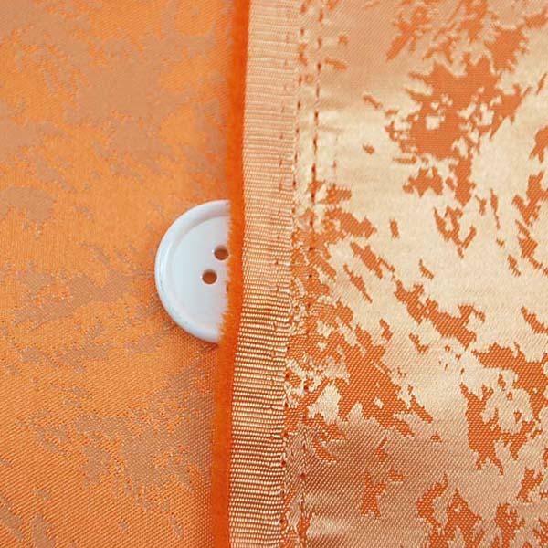 イベントや衣装に最適な光沢感のある素材 ポリエステルジャガード フレイム(炎) オレンジ 5613-07