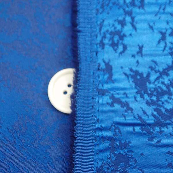 イベントや衣装に最適な光沢感のある素材 ポリエステルジャガード フレイム(炎) 青 5613-10