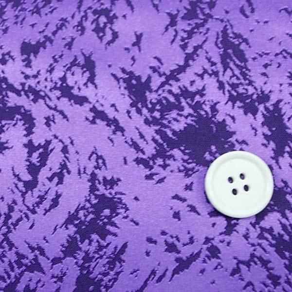 イベントや衣装に最適な光沢感のある素材 ポリエステルジャガード フレイム(炎) 紫 5613-14