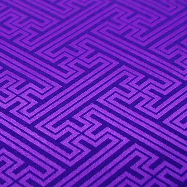 よさこいや舞台衣装に最適な 光沢感のある素材 ポリエステルジャガード 紗綾形 江戸紫