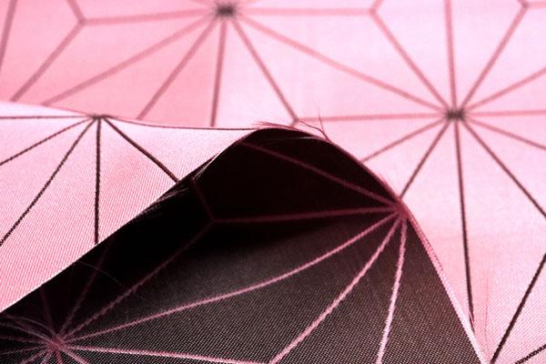 人気の和柄シリーズ ポリエステルジャガード 麻の葉柄 ピンク