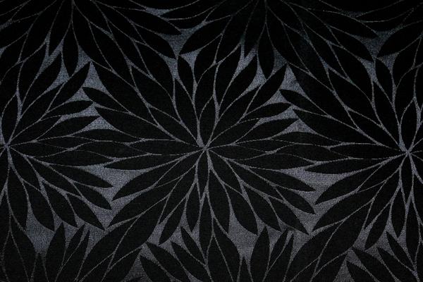 イベントや衣装に最適な光沢感のある素材 ポリエステルジャガード 菊の柄 黒