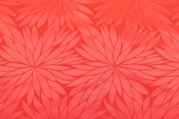 イベントや衣装に最適な光沢感のある素材 ポリエステルジャガード 菊の柄 赤