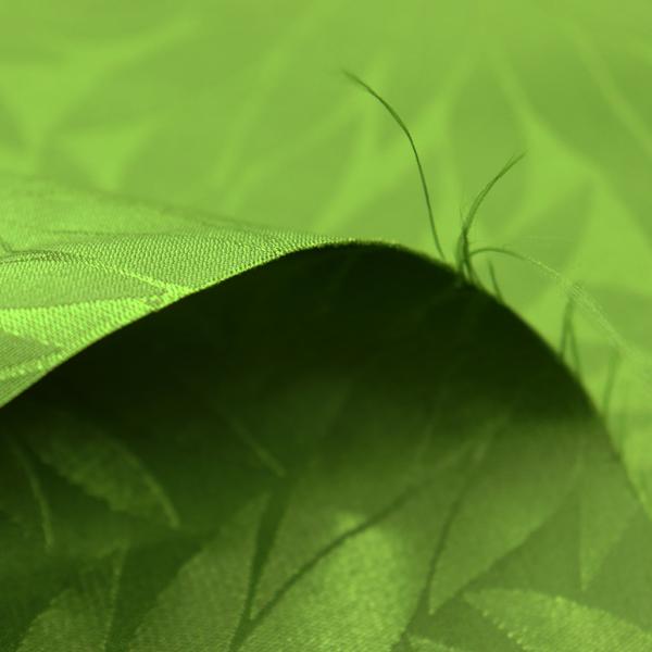 イベントや衣装に最適な光沢感のある素材 ポリエステルジャガード 菊の柄 鶯色