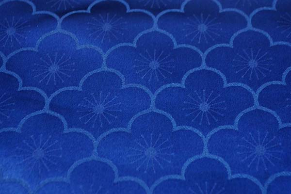 サテンジャガード 梅の柄 ネイビー(濃紺)