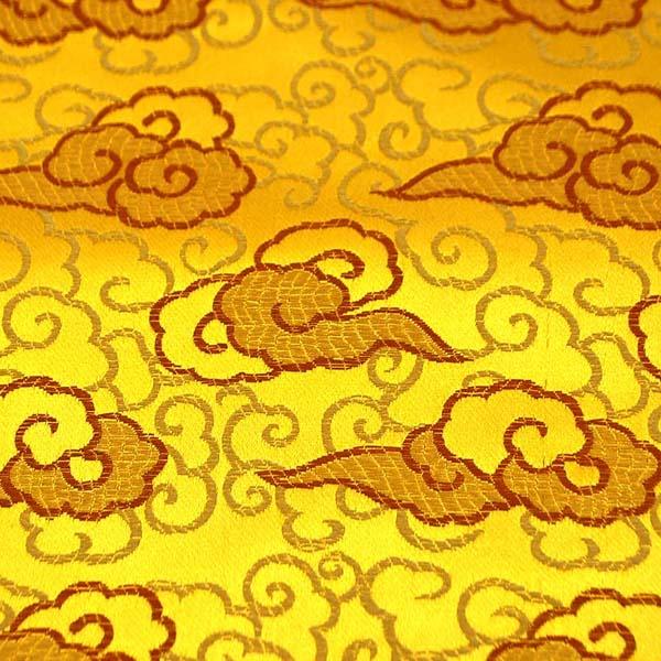 サテンジャガード 雲 ゴールド