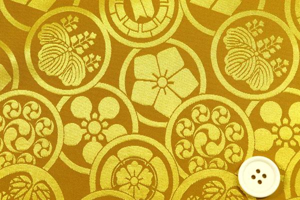カチオンジャガード 家紋柄 金
