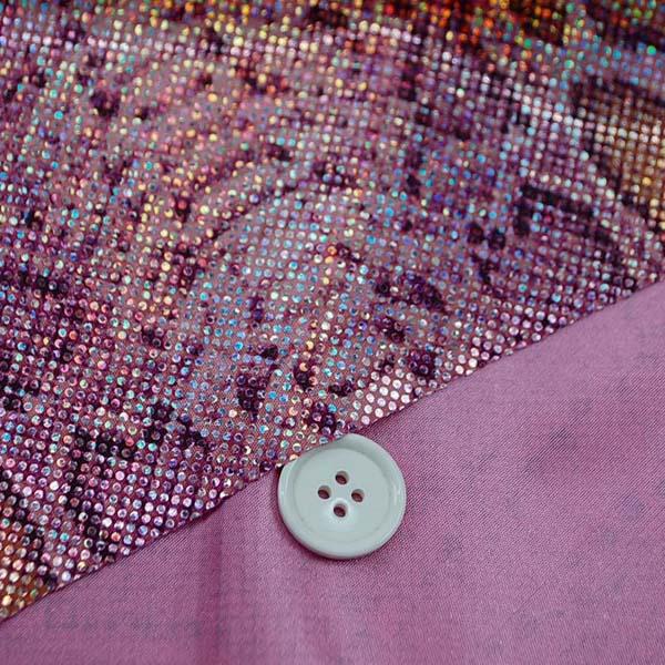 多彩に輝くホログラムのロイヤルスムース パイソン柄(大蛇) ピンク系 =お取り寄せ商品のため即出荷は不可能となります=