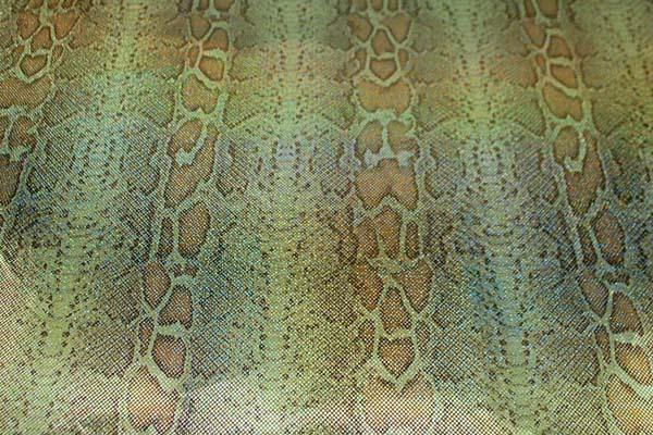多彩に輝くホログラムのロイヤルスムース パイソン柄(大蛇) イエロー系 =お取り寄せ商品のため即出荷は不可能となります=