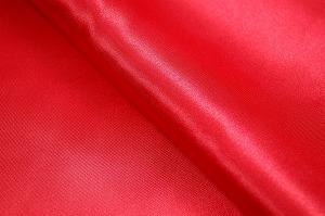 ポリエステル・サテン生地 赤色(6603-02) メーカー生産終了のため現物のみとなります